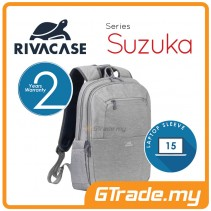 RIVACASE Suzuka Laptop Backpack Bag Apple MacBook Air Pro 15 Grey