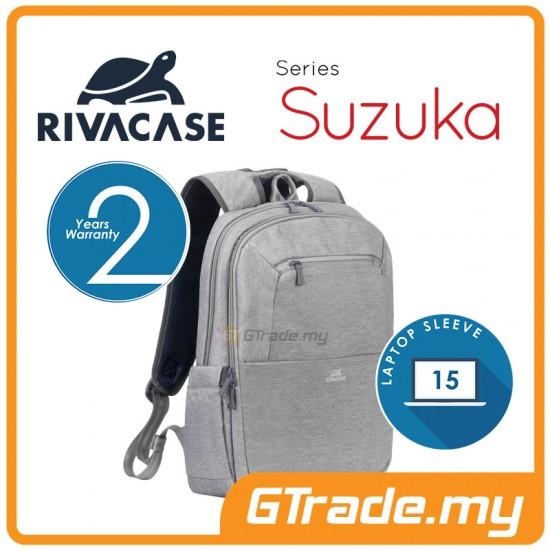 RIVACASE Suzuka Laptop Backpack Bag Apple MacBook Air Pro 15 Grey