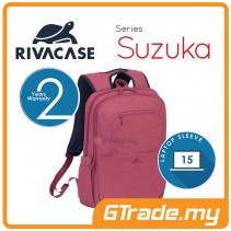 RIVACASE Suzuka Laptop Backpack Bag Apple MacBook Air Pro 15 Red