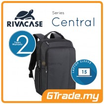 RIVACASE Central Laptop Backpack Bag Apple MacBook Air Pro 15 Black