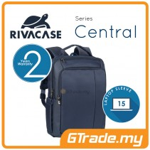 RIVACASE Central Laptop Backpack Bag Apple MacBook Air Pro 15 Blue