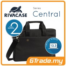RIVACASE Central Laptop Messenger Bag Apple MacBook Air Pro 13 Black