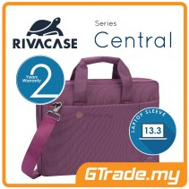 RIVACASE Central Laptop Messenger Bag Apple MacBook Air Pro 13 Purple