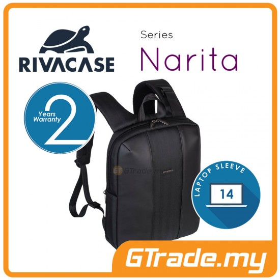 RIVACASE Narita Laptop Backpack Bag Apple MacBook Air Pro 14 Black