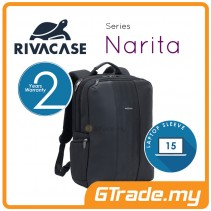 RIVACASE Narita Laptop Backpack Bag Apple MacBook Air Pro 15 Black