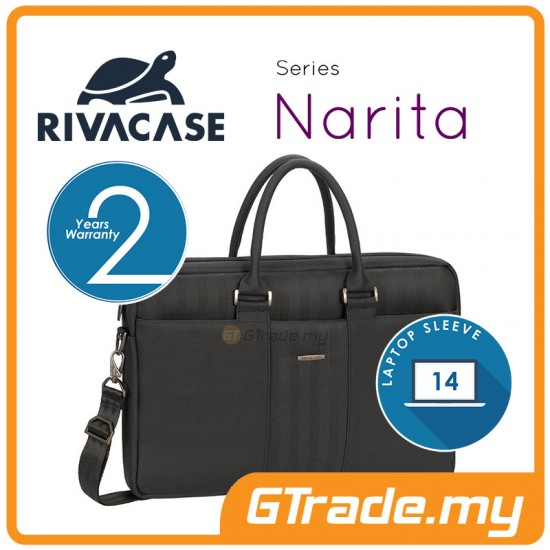 RIVACASE Narita Laptop Carry Bag Apple MacBook Air Pro 14 Black