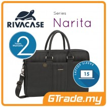 RIVACASE Narita Laptop Carry Bag Apple MacBook Air Pro 15 Black