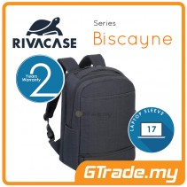 RIVACASE Biscayne Laptop Backpack Bag Apple MacBook Air Pro 17 Black