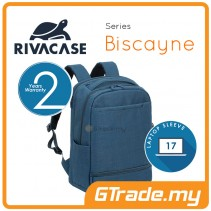RIVACASE Biscayne Laptop Backpack Bag Apple MacBook Air Pro 17 Blue