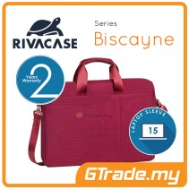 RIVACASE Biscayne Laptop Carry Bag Apple MacBook Air Pro 15 Red