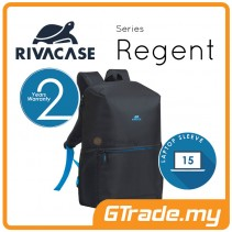 RIVACASE Regent Laptop Backpack Bag Apple MacBook Air Pro 15 Black