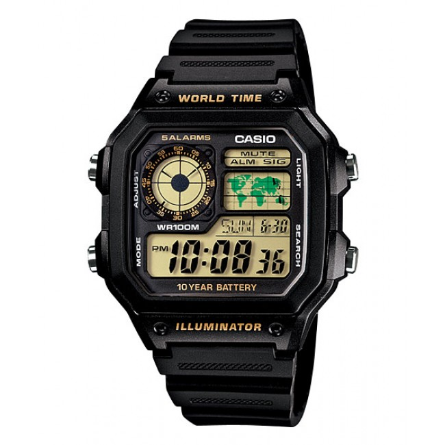 [READY STOCK] CASIO STANDARD AE-1200WH-1BV Digital Watch | 10Y Batt. Wolrd.T