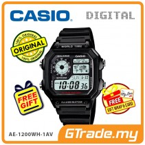 [READY STOCK] CASIO STANDARD AE-1200WH-1AV Digital Watch | 10Y Batt. Wolrd.T