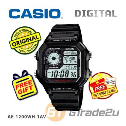 [READY STOCK] CASIO STANDARD AE-1200WH-1AV Digital Watch | 10Y Batt. Wolrd.T