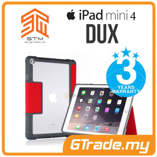STM Dux Drop Protect Tough Case Apple iPad Mini 4 Red