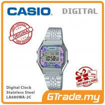 CASIO Women Ladies LA680WA-2C Digital Watch | Retro New Color Alarm