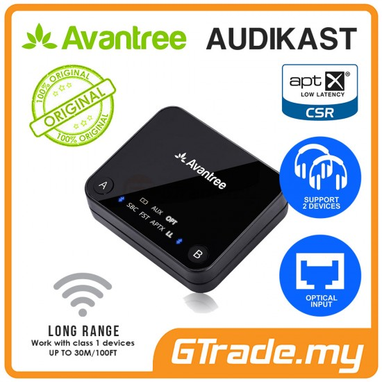 AVANTREE Multipoint Wireless  Bluetooth Transmitter aptX Audikast