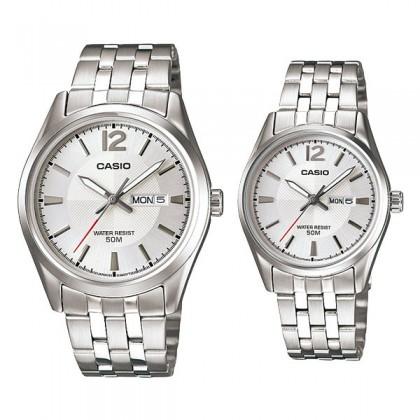 CASIO STANDARD MTP-1335D-7AV & LTP-1335D-7AV Analog Couple Watch