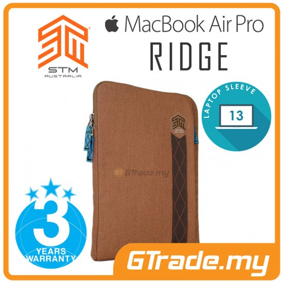 STM Ridge Laptop Sleeve Bag Apple MacBook Air Pro 13' Brown