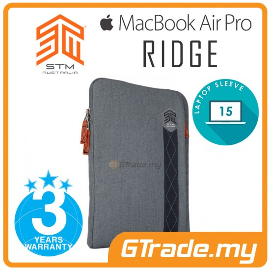 STM Ridge Laptop Sleeve Bag Apple MacBook Air Pro 15' Grey