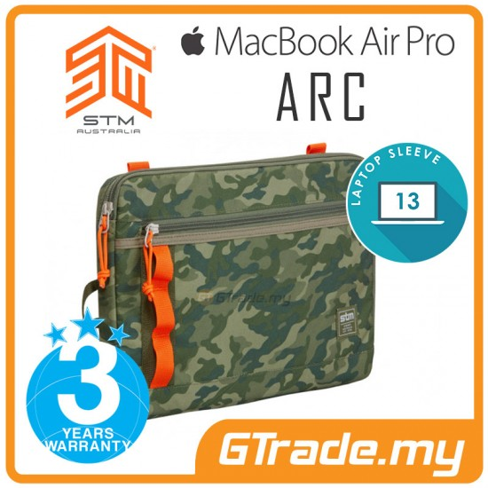 STM Arc Laptop Sleeve Bag Apple MacBook Air Pro 13' Green Camo