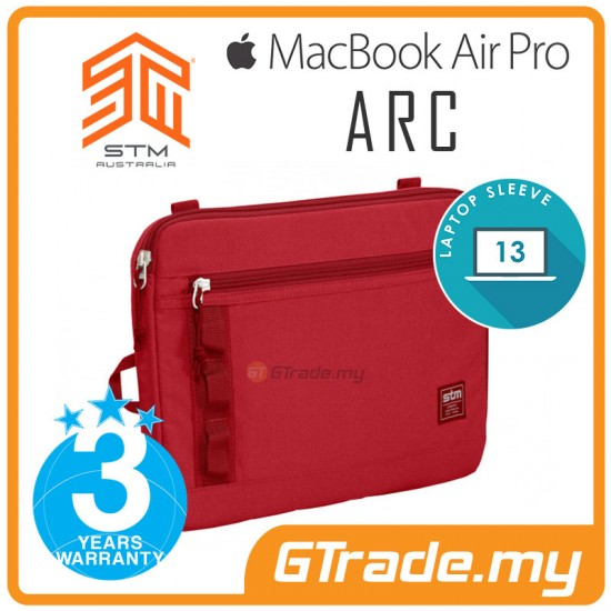 STM Arc Laptop Sleeve Bag Apple MacBook Air Pro 13\' Red
