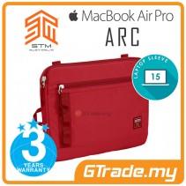 "STM Arc Laptop Sleeve Bag Apple MacBook Air Pro 15"" Red"