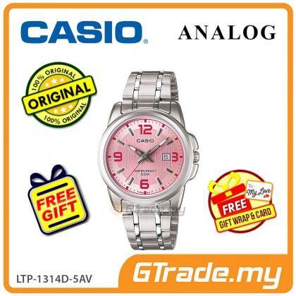 [READY STOCK] CASIO STANDARD LTP-1314D-5AV Analog Ladies Watch | Date Display WR50m