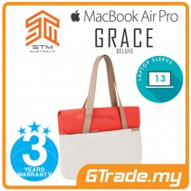STM Grace Deluxe Laptop Sleeve Bag Apple MacBook Pro Air 13' Coral Dove