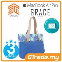 STM Grace Deluxe Laptop Sleeve Bag Apple MacBook Pro Air 13' Blue Diamond