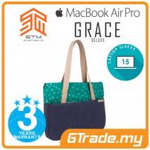 STM Grace Deluxe Laptop Sleeve Bag Apple MacBook Pro Air 15' Teal Dot