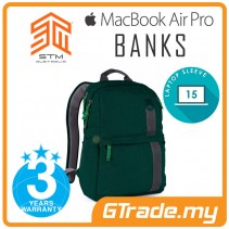 STM Banks Laptop Backpack Bag Apple MacBook Pro Air 15' Green