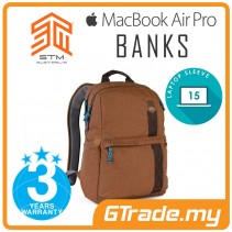 STM Banks Laptop Backpack Bag Apple MacBook Pro Air 15' Brown