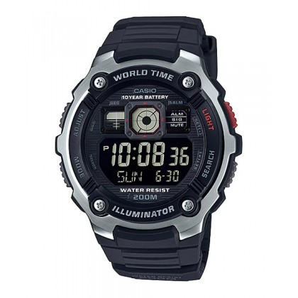 [READY STOCK] CASIO STANDARD AE-2000W-1B Digital Watch | 10 Yrs Batt. WR200M