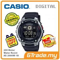 CASIO STANDARD AE-2000W-1B Digital Watch | 10 Yrs Batt. WR200M [ READY STOCK ]
