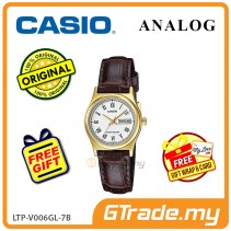 CASIO STANDARD LTP-V006GL-7BV Analog Ladies Watch | Gold Case Leather