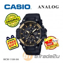 CASIO MEN MCW-110H-9A Chronograph Watch | Tough Case