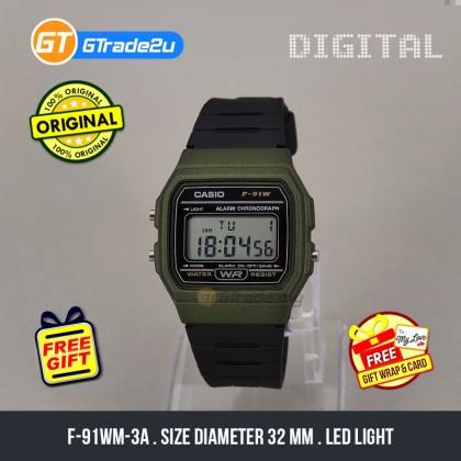 [READY STOCK] CASIO MEN F-91WM-3A Digital Watch | Classic Since 1992