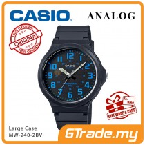 [READY STOCK] CASIO ANALOG MW-240-2BV Mens Watch | Large Case 50m Resist