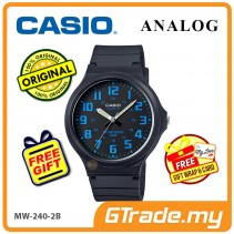 [READY STOCK] CASIO ANALOG MW-240-2BV Mens Watch | Large Case 50m Resist