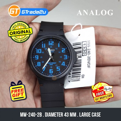 [READY STOCK] CASIO ANALOG MW-240-2BV Mens Watch   Large Case 50m Resist