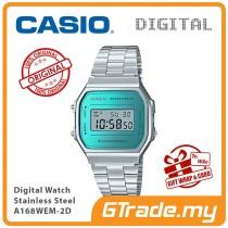 CASIO Standard A168WEM-2D Digital Watch | Mirror finishing face
