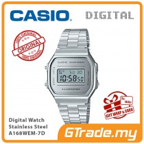 CASIO Standard A168WEM-7D Digital Watch | Mirror finishing face