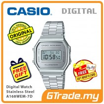 CASIO Standard A168WEM-7D Digital Watch | Mirror finishing face [PRE]