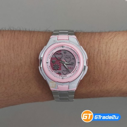 [READY STOCK] CASIO POPTONE LCF-10D-4AV Analog Digital Watch | Wolrd.T WR50m