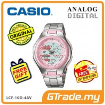 [READY STOCK] CASIO POPTONE LCF-10D-4AV Analog Digital Watch | Wolrd.T WR50m