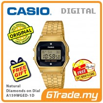 [READY STOCK] CASIO Men A159WGED-1D Digital Watch | Natural diamonds