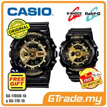 [READY STOCK] CASIO G-SHOCK BABY-G GA-110GB-1A & BA-110-1A Couple Watch