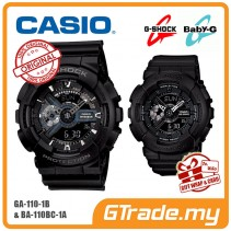 [G-ZONE] CASIO G-SHOCK BABY-G GA-110-1B BA-110BC-1A Couple Watch Matt Black