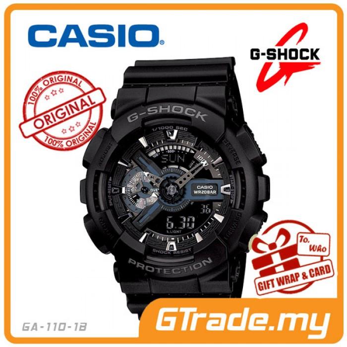 G Zone Casio G Shock Ga 110 1b Analog Digital Watch 3d Design Big